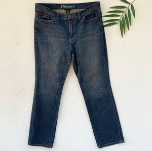 New York & Co Mid Rise Straight Leg Jeans
